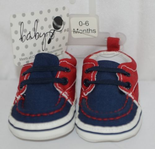 Baby Brand Red White Blue 309067 Pre Walker Infant Shoes 0 to 6 Months