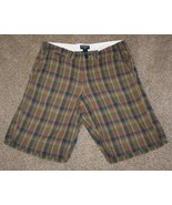 "POLO JEANS CO Ralph Lauren Mens Waist: 33"" Olive Green Blue Plaid Chinos... - $13.55"