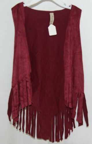 Pomelo Maroon Fringed Extra Small Vest Made In The USA
