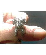 Antiqued Silver Pekingese/ Shih Tzu/ Lhasa Apso Dog Style Adjustable Wra... - $6.99