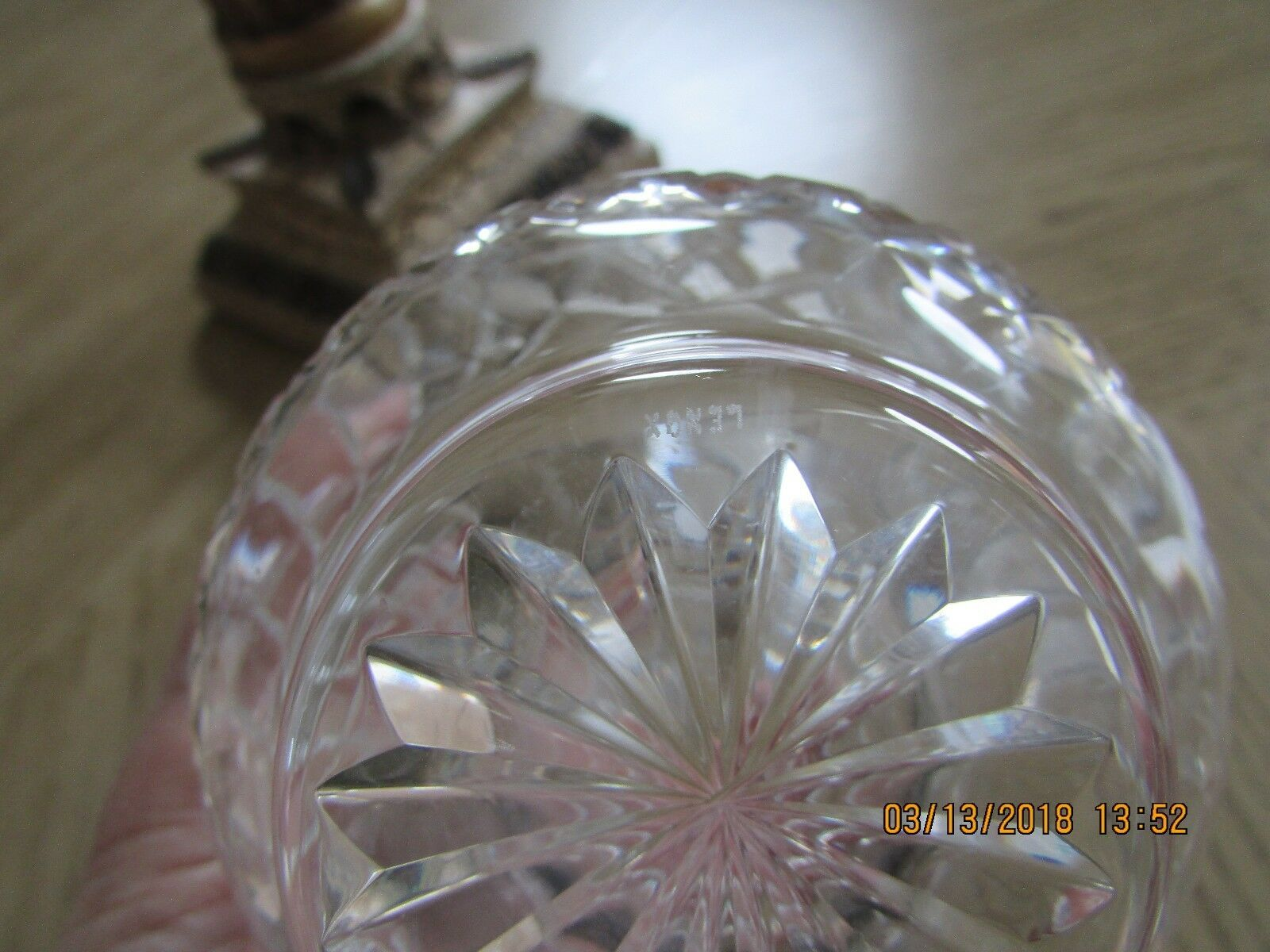 LENOX CRYSTAL1ST ANNUAL CHRISTMAS CANDLE HOLDER NOEL 1984 SALE