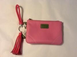 Coach Pink Nylon Leather Wristlet~Excellent! - $24.24