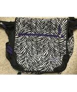Jansport  Zebra Print Laptop Messenger Tote Bag cross body - $16.82