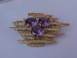Estate Vintage 14k Yellow Gold  Huge Alexandrite Brooch-Pin Heavy 30.4gr... - $2,754.25