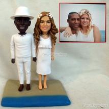 Turui Figurines wedding cake topper funny dog polymer clay doll custom b... - $148.00
