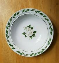 Superior Hall Cameo Rose Fruit Bowl Mary Dunbar White Rose Buds Gold Dot... - $2.92