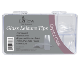 EzFlow Glass Leisure Crystal Clear Tips