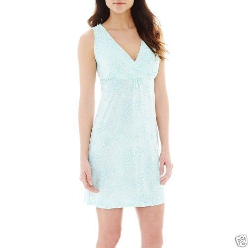 Ambrielle Sleeveless Knit Chemise Mint Mojito Size S, M New Msrp $38.00