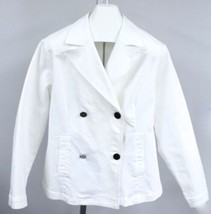 Coldwater Creek White Stretch Peacoat Heavy Cotton 16 Casual Women's  - $34.00