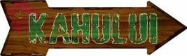 """Kahului Hawaiian Themed Novelty Metal Arrow Sign 17"""" x 5"""" Wall Decor - DS - $21.95"""