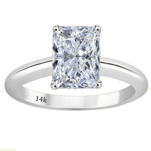3.00 CTW Radiant Cut Solitaire Wedding Engagement Ring Set In 14k White ... - $286.11