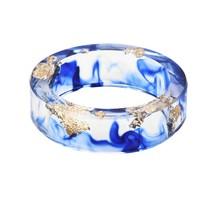 Hot Sale 8 Colors Gold Foil Paper Inside Resin Ring For Women And Men Je... - $16.12