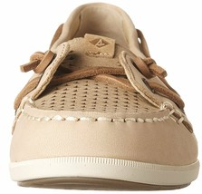 Sperry Top-Sider Women's Coil Ivy Linen Scale Emboss Boat Shoes STS80256 NIB image 2
