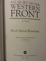 All Quiet On The Western Front The World War 1 Masterpiece Erich Maria R... - $8.99