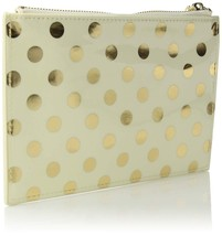 KATE SPADE PENCIL POUCH DOTS GIFTING PORTABLE CONTAINER WOMEN PERSONAL C... - $29.59