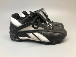 Reebok, Boy's AUTHENTIC MLB COLLECTION Black White 88 Rbk Baseball Cleat... - $27.65
