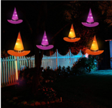 Halloween Witch Hats String Lights Party Yard Decor Decoration Lighted A... - €42,44 EUR