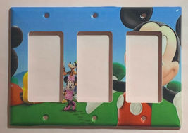 Mickey Mouse House Club Light Switch Duplex Outlet wall Cover Plate Home decor image 6