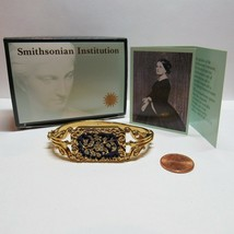 1994 Smithsonian Avon Mary Todd Lincoln Bangle Bracelet Blue Enamel Crys... - $35.64
