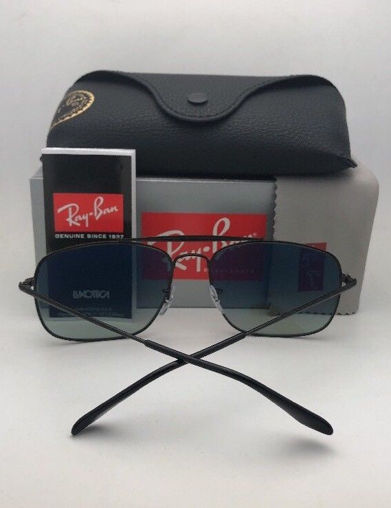 Primary image for Polarized RAY-BAN Sunglasses THE COLONEL RB 3560 002/58 61-17 Black w/Green Lens