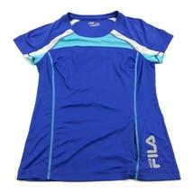 FILA Womens Running Shirt Women's Size M Ruched Zip Pocket 3M Safety Ref... - $12.48