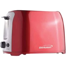 Brentwood Appliances TS-292R 2-Slice Cool Touch Toaster (Red & Stainless... - $38.01