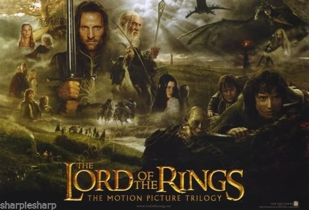 Lot of 5 Different NEW LOTR Movie POSTERS LORD OF THE RINGS 20x13 Trilogy FOTR