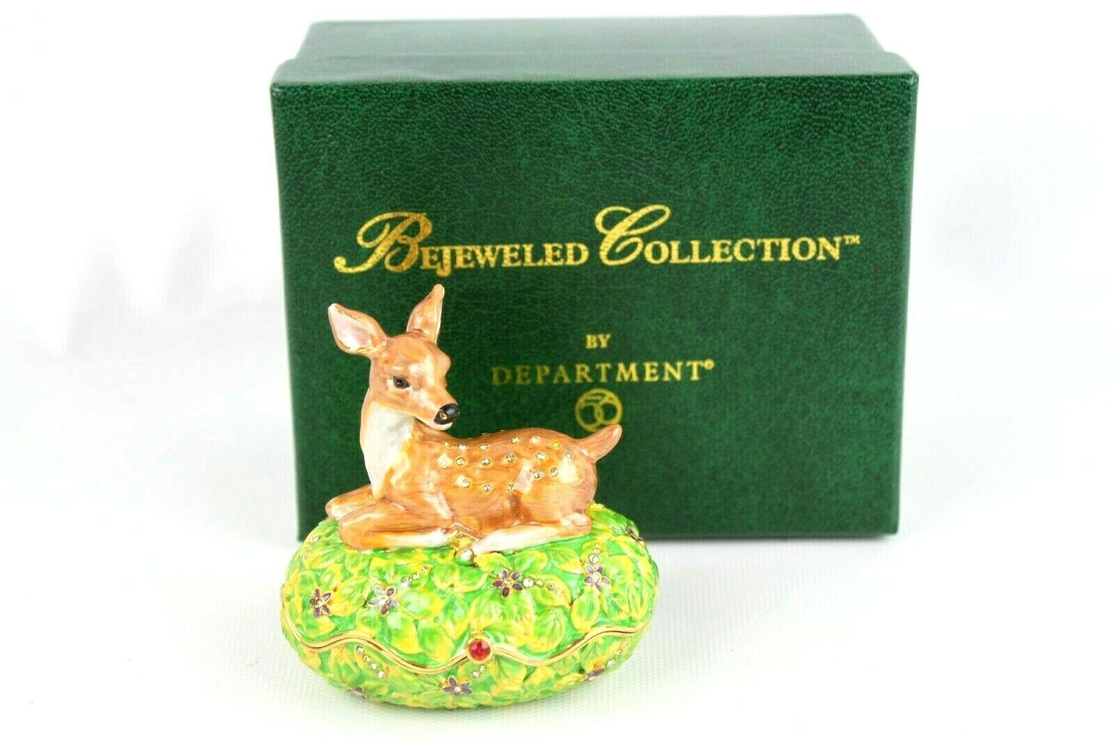 Primary image for Bejeweled Collection Department 56 Deer Jeweled Box