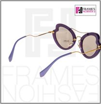 MIU MIU SCENIQUE Butterfly 11R Lilac Translucent Violet Gold Sunglasses MU11RS image 4