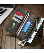 Vintage Genuine Leather Wallet Case for iPhone XR X 8 7 6 Plus Functiona... - $29.99