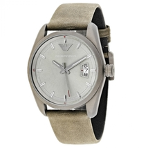 Emporio Armani AR6079 Sportivo Analog Brown Leather Strap Men's Watch - $183.98