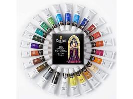 Castle Art Premium Oil Paints, Set of 24 Tubes image 2