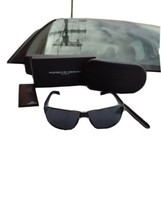 Porsche Design p8509 Sonnenbrille Dunkelblau Arm Grau Gläser - $209.84
