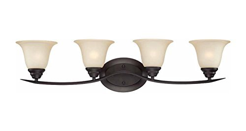 Talista 4 Light Antique Bronze Bath Vanity Light With: Volume Lighting V5484-79 Trinidad 4-Light Bathroom Vanity