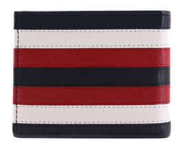 Tommy Hilfiger Men's Leather Wallet Passcase Billfold RFID Navy Red 31TL220104 image 5