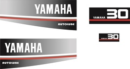 YAMAHA 30 AUTOLUBE - Outboard decal set, reproduction. - $27.00