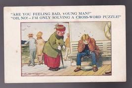 Are You Feeling Bad My Friend Vintage Artist Postcard Signed D. Tempest Unused - $3.54