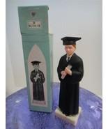 Vintage Cake Topper Graduation Plastic Figurine Hong Kong ARA Plastics N... - $8.90