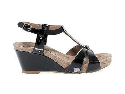 Sandalen mit Absatz MEPHISTO BRIANA in nero leder - Schuhe Damen
