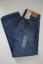 Levi's 505 Boy's Blue Denim Jeans size 14 Reg 27W  27L New - $19.79