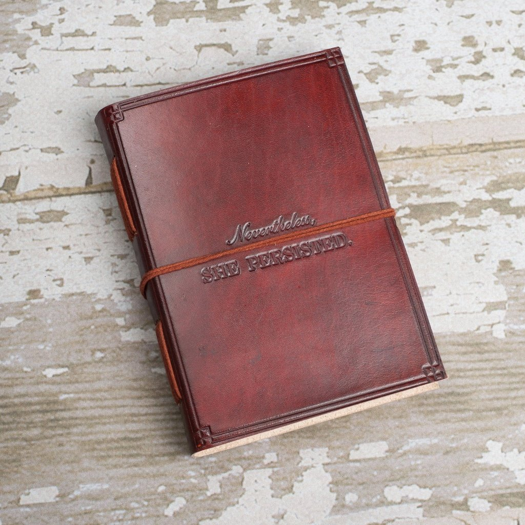 """""""She Persisted"""" Handmade Leather Journal"""