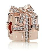 Surprise Gift Charm PANDORA Rose, Cubic Zirconia 14 Ct Rose Gold #25 - $62.68