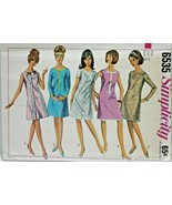Vintage 1960s Simplicity Sewing Pattern 6535 A line Dress Size 12 32B - $16.19