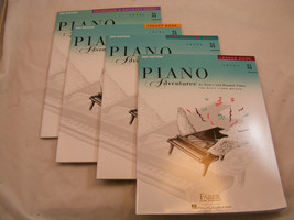FABER PIANO ADVENTURES 3A 4 BOOK PACK LESSON THEORY PERFORMANCE TECHNIQU... - $14.25