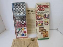 VTG ACTIVITOYS LTD NO. 1399 TRAVEL TRIO 3 PLASTIC POCKET GAMES FOR TRAVEL  - $11.79