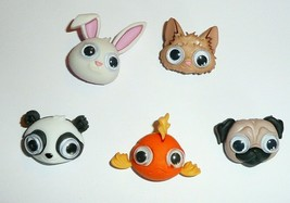 Big Eyed Animals Buttons 3D Realistic Shank Buttons Rabbit, Fish, Dog, P... - $6.92