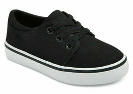 Cat & Jack Niños ' Michael / Finn Lona Negra Informal Sneakers Nuevo Con