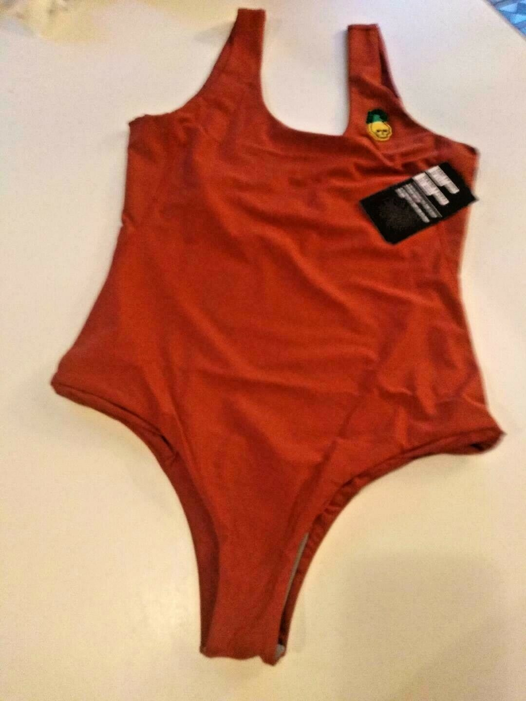Hurley Q/D Pineapple Quick Dry One Piece Swim Wear Size Small