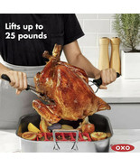 OXO Good Grips Turkey and Roast Lifters Set Of 2 With End Caps NWT - $14.85