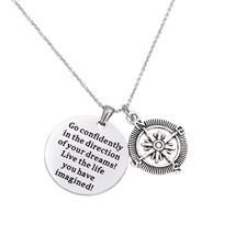 LParkin Go Confidently In The Direction Of Your Dreams Necklace, Stainle... - €18,68 EUR